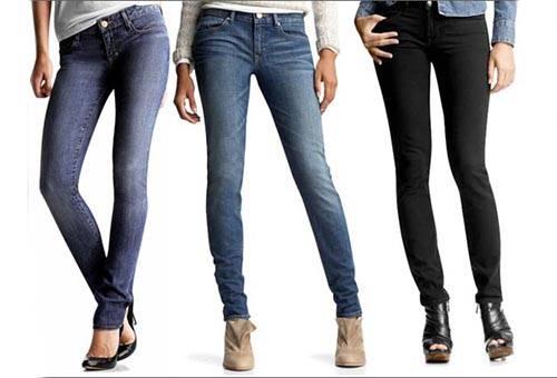 Женские джинсы выглаженные