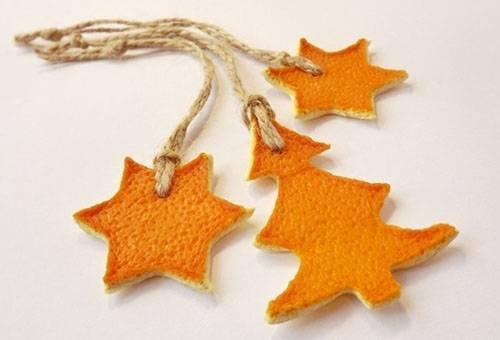 Подвески из апельсиновых корок против моли