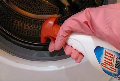 Очистка резинового уплотнителя в стиральной машине