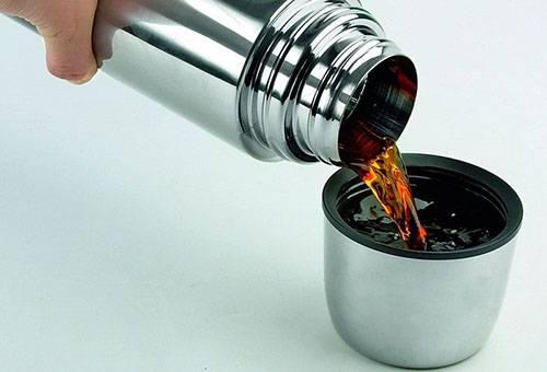 Как очистить термос от чайного налета внутри?