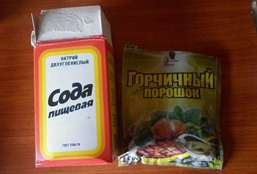 Сода и горчичный порошок