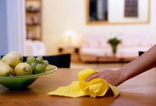 Использование кухонного полотенца