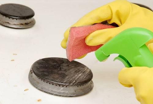 Чистка эмалирвоанной газовой плиты