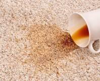 Пятно от чая на ковролине