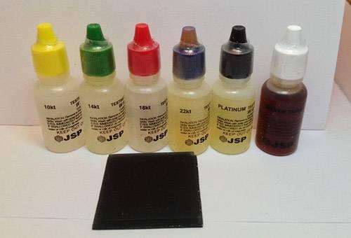 Химический тест для ювелирных изделий