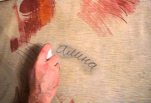 Удаление надписей со столешницы