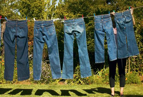 Сушка джинс