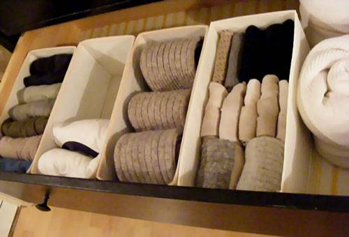 Хранение носков и чулок