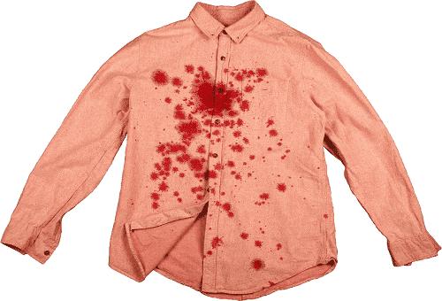 пятна от граната на рубашке