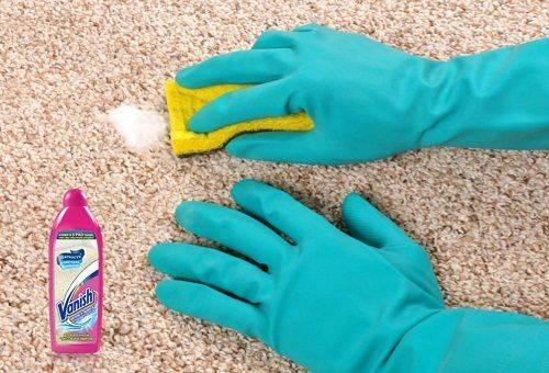 чистка коврового покрытия Ванишем