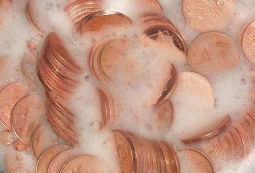 Чистка медных монет