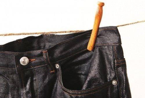 покрашенные джинсы в черный цвет