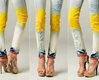 Окрашенные и вываренные джинсы
