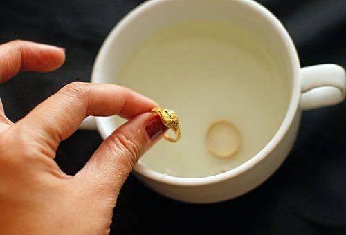 кольцо в чашке