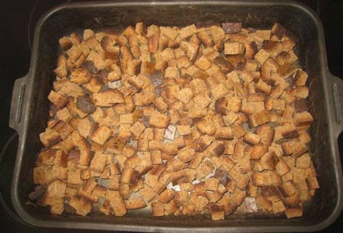 Домашние сухари из духовки