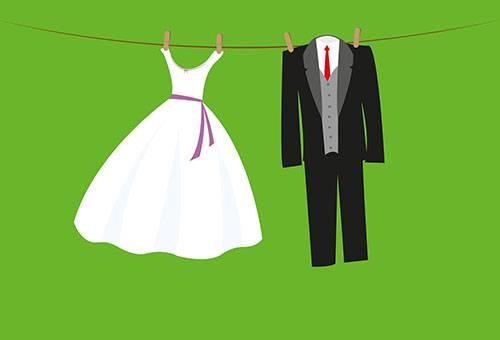 Сушка свадебных нарядов
