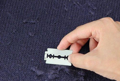 чистка катышек с одежды бритвой