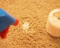 Пятно от свечи на ковре