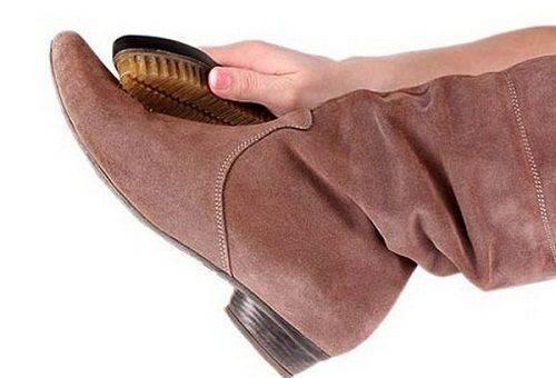 уход за обувью из замша