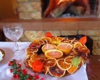 сушеные дольки апельсинов