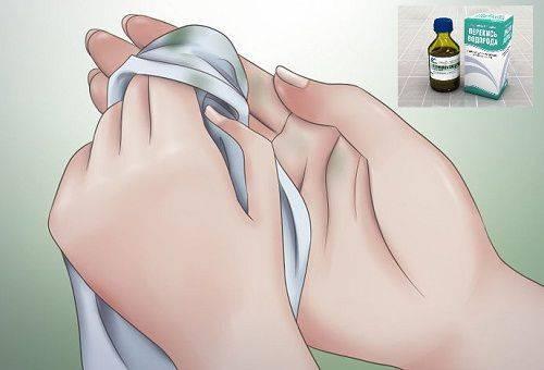 удаление краски с рук перекисью