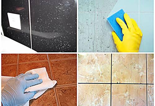Чем мыть плитку в ванной чтобы блестела