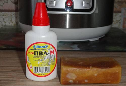 Клей ПВА и хозяйственное мыло