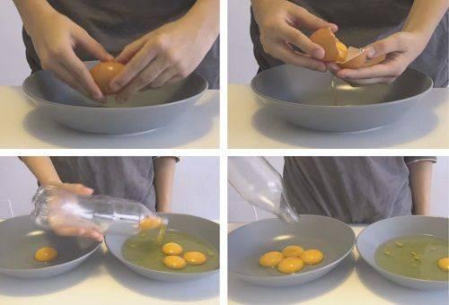 два способа отделения белка от желтка