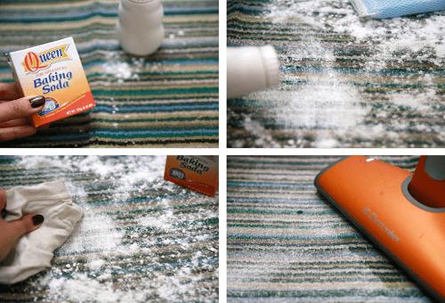 чистка ковра содой