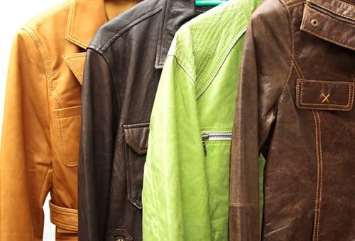 Кожаные куртки разных цветов