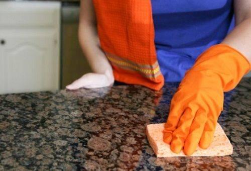 чистка столешницы
