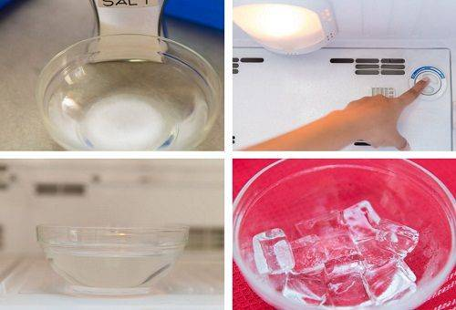 способ заморозки льда в соленой среде