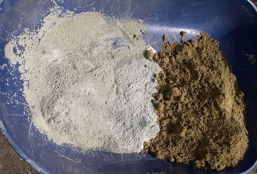 Песок и известь