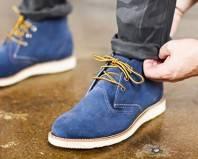 Замшевые осенние мужские туфли