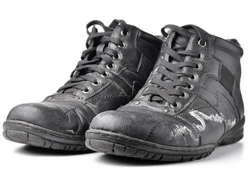 Солевые разводы на обуви