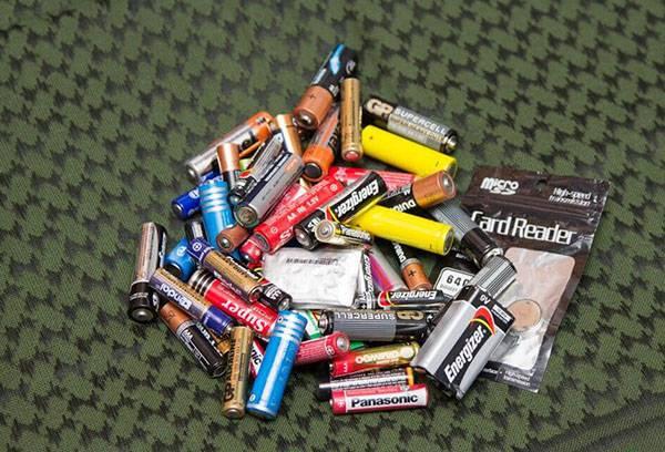 Отработанные батарейки