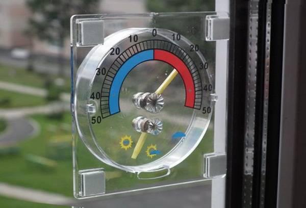 Оконный термометр круглый в блистере
