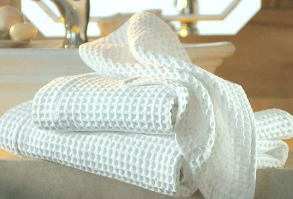 Белоснежные полотенца