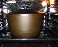 Прокаливание казана в духовке