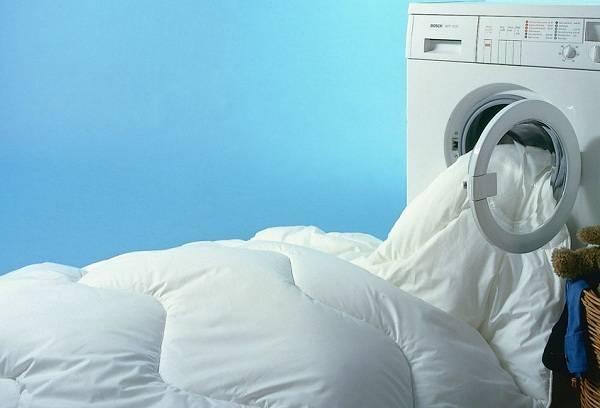 стирка одеяла в машинке