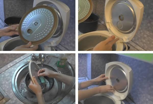 мытье крышки от мультиварки