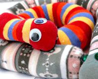 Змейка из детских колготок