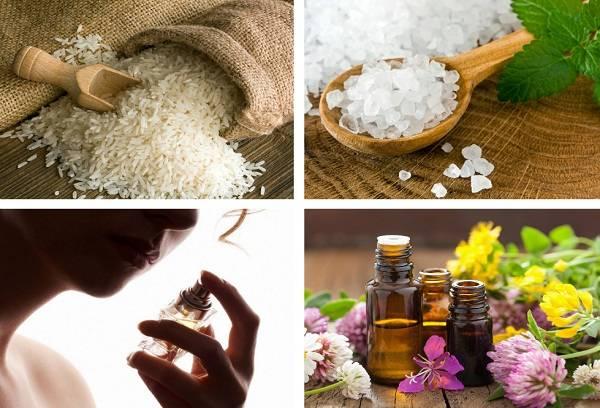 рис, соль, духи и масла против табачного дыма