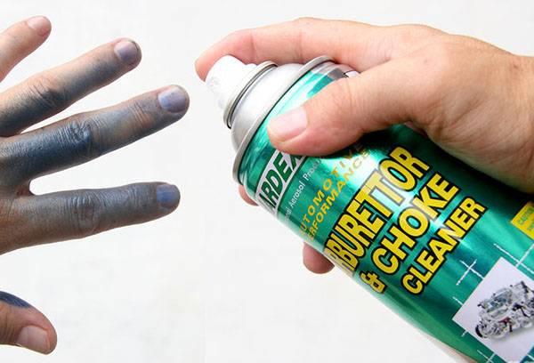 Снятие краски с кожи рук