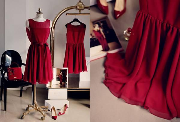 Выглаженное шифоновое платье