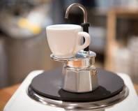 Гейзерная кофеварка с подставкой для чашки
