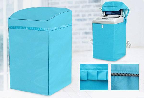 Голубой чехол для стиральной машинки