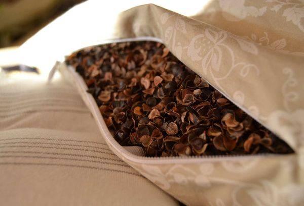 Подушка из гречневой лузги