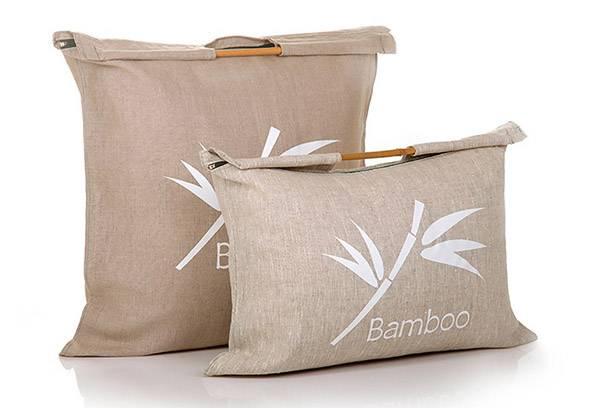 Подушки из бамбука в чехлах