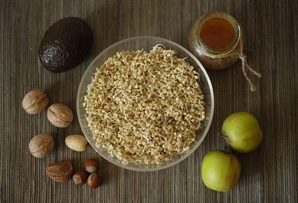 Ингредиенты блюда для здорового питания